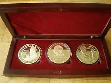Pope John Paul II Benoit XVI Soubirous Medal 40 mm Gold Plated in Caps and Box