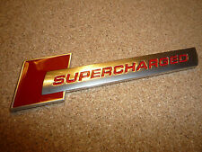 AUDI SUPERCHARGED RED & SILVER BADGE S1 S3 S4 S5 RS3 RS4 RS5 RS TT TTS S-LINE