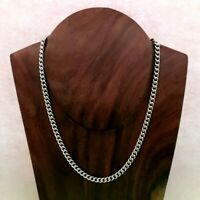 Unisex New Heavy 925 Sterling Silver Necklace Curb Chain Fully Hallmarked 32.57g
