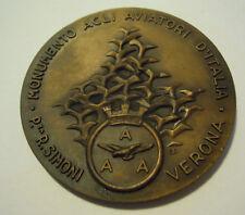 MEDAGLIA 10° RADUNO NAZIONALE A.A.A. VERONA 1982 AVIATORI D'ITALIA AEREO S-O-4
