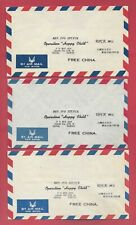 Air Mail FREE CHINA Taipei Taiwan Letter Covers Lot Of 3