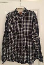Authentic Michael Kors black and white plaid shirt XL vintage rare Hong Kong