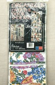 Vintage Prestige By Whitmor Over The Door Shoe Organizer Spring Bouquet USA MADE