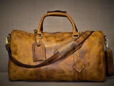 Men's Leather Duffel Bag , Travel bag, Weekender bag .