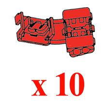 10 Raccords Instantanes Couleur Rouge pour Câble de 0.5 à 1 mm²