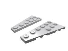 4 x [neu] LEGO Keilplatte 6 x 3 rechts/links - hell-blaugrau - 54383, 54384