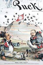 Keppler 1891 MISERY LOVES COMPANY Fassett Miller Matted Political Cartoon