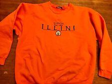 Illinois Fighting Illini sweatshirt XL Chief Illiniwek Orange