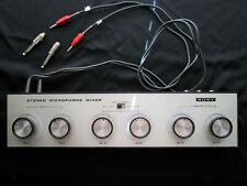 Sony MX-6S Stereo 2 Channel Microphone Mixer – With Audio Cords - Vintage