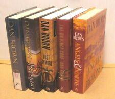 Lot 5 Dan Brown Hardcover Book Complete Robert Langdon /Da Vinci Code/Origin.