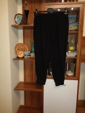 COS BLACK VISCOSE RELAXED HAREM CROPPED TAPERED JOGGERS PANTS-SIZE 40