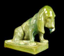 Chien Cocker en grés de Rambervillers Dog glazed stoneware c1950 A Cythère Nancy
