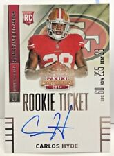 Carlos Hyde 2015 Panini Contenders Rookie Ticket RC on-card Auto SP #208 - 49ers