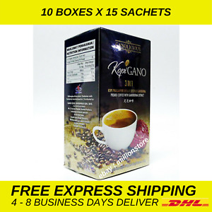 10 Boxes Gano Excel Cafe 3 in 1 Coffee Ganoderma Lingzhi Reishi Instant Express
