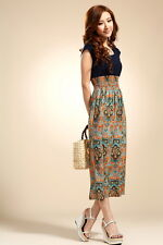 Women's Bohemia Vintage Print Flower Dress - S/M