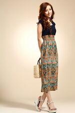 Women's Bohemia Vintage Print Flower Dress - S/M