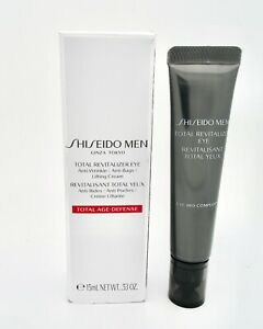 Shiseido Men Total Revitalizer Eye Total Age Defense 0.53oz Anti Bags New Sealed