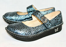 ALEGRIA Paloma Blue Button Mary Janes PAL-213 Wo's 10-10.5 Eu 40 Adjustable