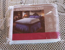 "New In Package Full Size Featherbed Cover-100% Cotton-56"" x 79""-Washabl"