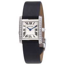 Cartier Tank Francaise 18kt White Gold Diamond Ladies Watch WE100231