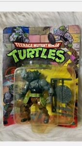 Teenage Mutant Ninja Turtles TMNT Rocksteady 1990 Playmates NIB