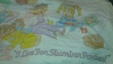Cabbage Patch Kids I Live For Slumber Parties Sleeping Bag Vintage 1980's