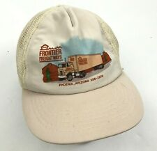 VINTAGE Frontier Freightways Trucker Hat Cap Snapback Adjustable Mesh Back 90's