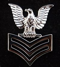 1st FIRST CLASS PETTY OFFICER US NAVY PIN E-6 CROW CAP DEVICE PO-6 USS SAILOR