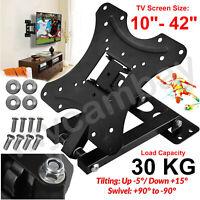 TV Wall Bracket Tilt Swivel For 10 15 20 23 25 30 32 38 40 42 Plasma LCD LED 3D