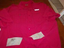 reel legends xl fish outdoor swim lightweight field pink mesh snaps shirt