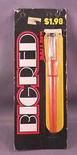 Parker Big Red Ball Pen-USA  Model--bandlessl--Carded--Orange