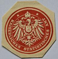 Siegelmarke Vignette Kaiserliches Statistisches Amt (6660)