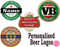 Beer Logos Inspired Personalised Edible Image Print Icing Birthday Cake Topper