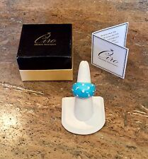 """CIRO COLLECTION"" SIMULATED TURQUOISE COCKTAIL RING SZ 8 SPECTACULAR!!!"