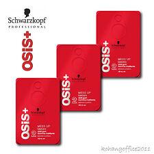 3X Schwarzkopf OSiS+ Mess Up Hair Wax Clay Texture Matt Gum Paste