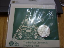Five Pound Coin-Christmas Tree Coin 2017 Brilliant Uncirculated-Royal Mint Pack