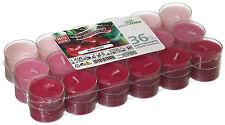 36 Duftteelichter Wildkirsche transparente Hülle Duft Kerzen Acryl Cup Bunt