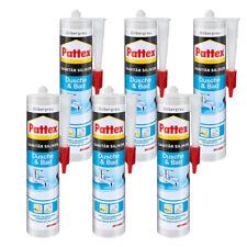 Pattex Silikon Dusche & Bad 300ml silbergrau  UV beständig schimmelresistent