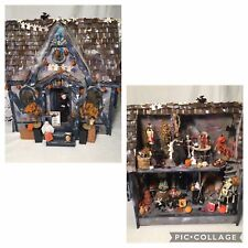 Carol Webb Halloween Haunted House Room Box Full Of Dollhouse MINIATURES Lighted