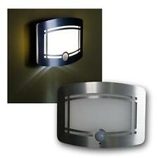 LED wall light battery operated powered stainless steel with motion PIR sensor
