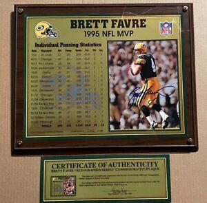 Brett Favre 1995 NFL MVP Autographed Passing Statistics with Certification