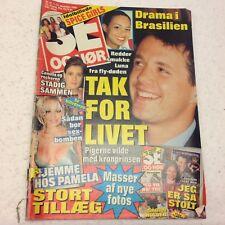 "Pamela Anderson Sex Bomb Photos Cover Vintage Danish Magazine 1996 ""Se og Hoer"""
