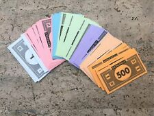 Monopoly Money Replacement Pieces Parts Play Arts Crafts Paper