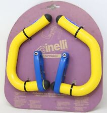 CINELLI SPINACI BAR EXTENSIONS AERO BULLHORN 90S VINTAGE YELLOW BLUE NOS