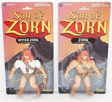 "2 LOT - SON OF ZORN 6"" WARRIOR & OFFICE TOY ACTION FIGURE 2016 FUNKO NEW"