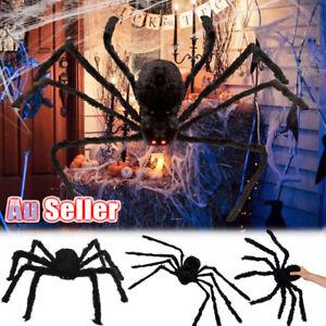 4FT Black Haunted House Halloween Decoration OutdoorIndoor Toy Prop Giant Spider