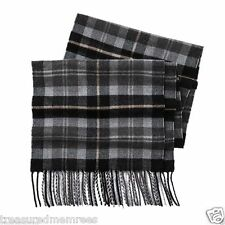 Dockers Acrylic Knit Plaid Scarf  ~ Gray Plaid ~ New With Tags MSRP $30.00