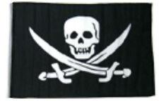 "12x18 12""x18"" Jolly Roger Pirate Calico Jack Rackham Sleeve Flag Garden"