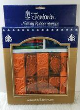 Fontanini Nativity Rubber Stamp Set Roman Inc 1997 Used Complete