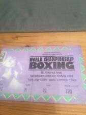 world champuonship boxing 23 oct 1999 ticket stub